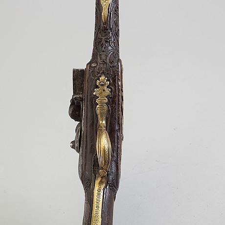 FlintlÅspistoler, 2 st, 1700 tal, för den orientaliska marknaden