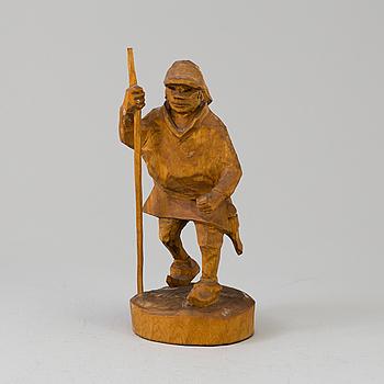 BENGT JONSSON, skulptur, trä. Sign BJ.