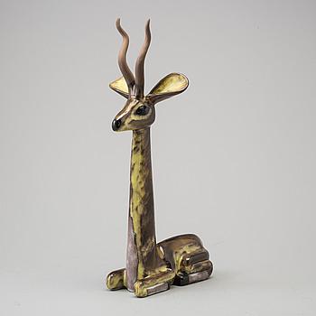 VICKE LINDSTRAND, skulptur, lergods, signerad.