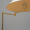 A late 20th century brass floor lamp