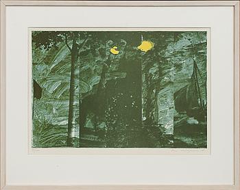 OLA BILLGREN,färglitografi signerad daterad och numrerad 81 17/100.