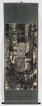 SHEN CHEN (B 1955-), rullmålning, tusch och färg på papper.