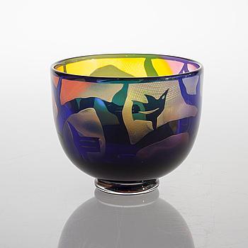 a glass bowl for Kosta Boda atelier, signed.