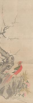 RULLMÅLNING, blandteknik på silke, signerad, Kina.