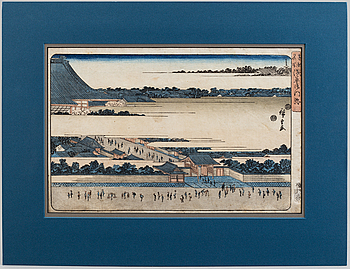 UTAGAWA HIROSHIGE (1797-1858), color woodblock print. 'Asakusa, from the Famous Places in the Eastern Capital, 19C.