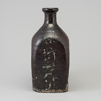 FLASKA, keramik. Japan, Meiji (1868-1912).