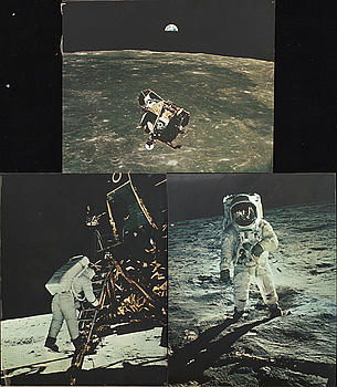 HASSELBLAD / NASA, PHOTO REPRODUCTION, 3 pcs, 1960s.