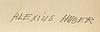 Alexius huber, blandteknik, signerad