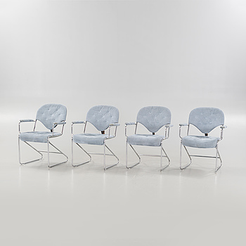 Four late 20th century armchairs by Sam Larsson for Dux.