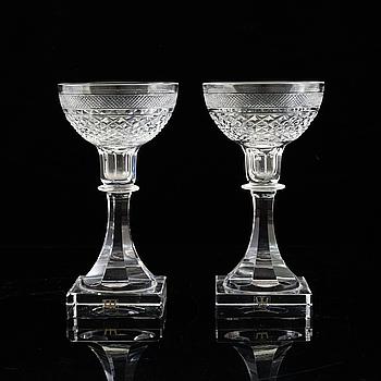 ELIS BERGH, ELIS BERGH,, 2 pcs, glass, 'Kent', Kosta, second half of the 20th century.