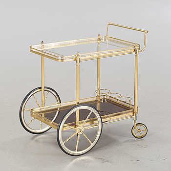 A brass trolley, second half of the 20th century.