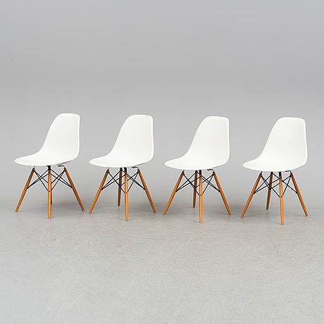 """Charles & ray eames, stolar, 4 st, """"eames plastic chair dsw"""", vitra, 2003"""