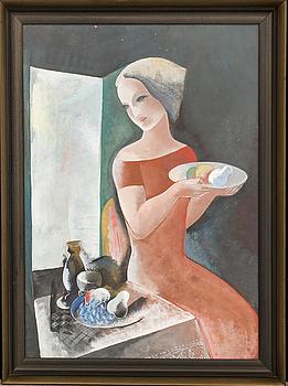 BÉLA KÁDÁR, gouache, signerad, 1930-tal.