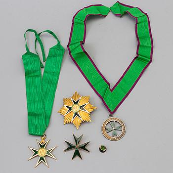 S:T LAZARUS ORDEN 4 delar, brons och emalj.