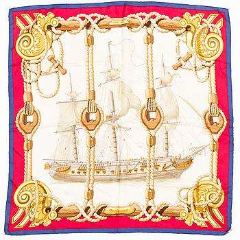 "HERMÈS, ""Tribord"", scarf."