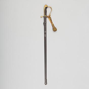 SABEL, svensk, m/1899, för infanteriofficer, med balja.