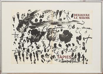 ANTONI TÀPIES, litografi ur Derrière le Miroir nr 175 1968 Maeght.
