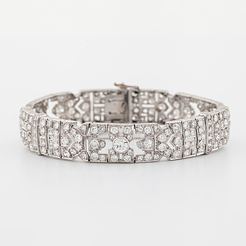 A old cut diamond bracelet with French Hallmarks.