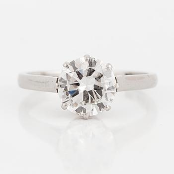 ENSTENSRING, med briljantslipad diamant, ca 1,70 ct.