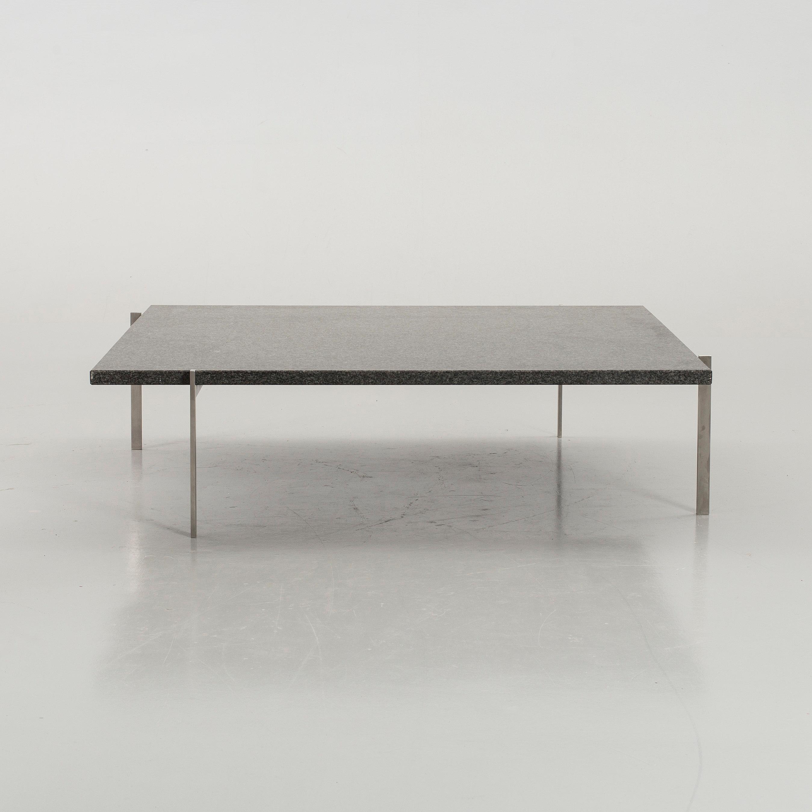 A Poul Kjaerholm \'PK-61A\' granite top sofa table, Fritz Hansen ...