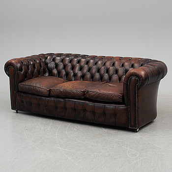 A Chesterfield sofa from the second half of the 20th century.
