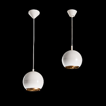 HEIKKI TURUNEN, A set of two 1970s hanging pendats model 961-180, for Stockmann Orno, Finland.