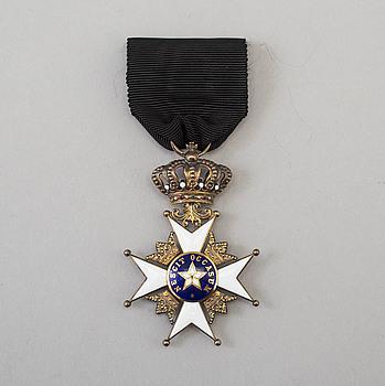 NORDSTJÄRNEORDEN, riddartecken, brons och emalj.