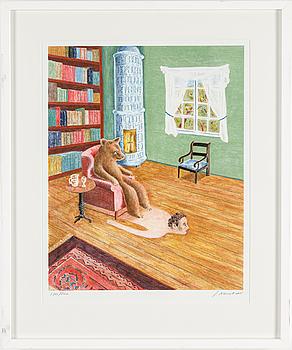 JOAQUIN MASOLIVER, färglitografi, signerad och numrerad 180/200.