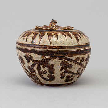 A Sawankhalok box with cover, 15th Century.