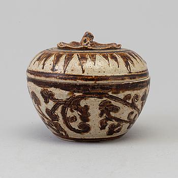 BURK med LOCK, porslin. Sawankhalok, 1400-tal.