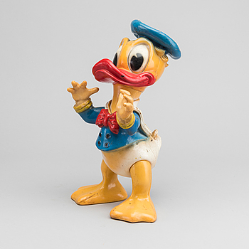 A DONALD DUCK PLASTIC FIGURE, Walt Disney Productions 1968.