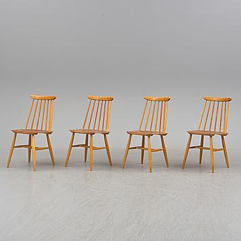 ILMARI TAPIOVAARA, A set of four 'Fanett' chairs by Ilmari Tapiovaara, Edsbyverken.