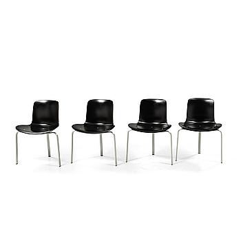 "Four ""PK8"" chairs, designed by Poul Kjaerholm for Fritz Hansen, modern production."