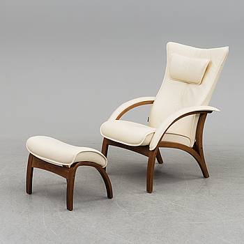 A 'Delta Adventure' easy chair and ottoman by Brunstad, Norway.
