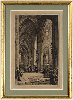 AXEL HERMAN HÄGG, etching, 1884, signed.