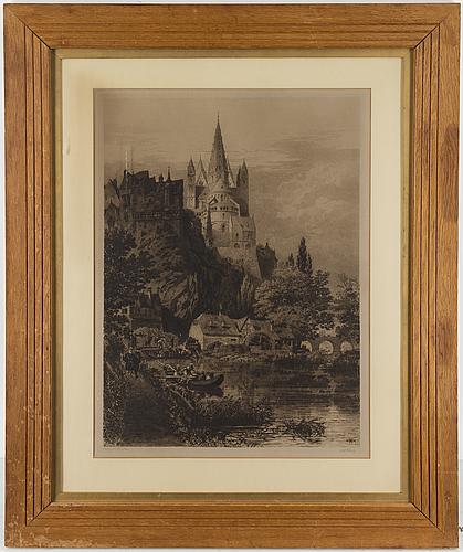 Axel herman hÄgg, etsning, 1886, signerad