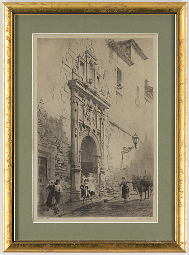 Axel herman hÄgg, etching, 1889, signed