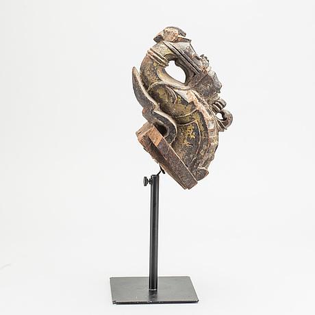 Skulptur/dekorfragment, orientalisk,