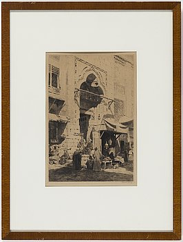 AXEL HERMAN HÄGG, Etching, 1890, signed.