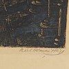 Axel herman hÄgg, etsning, 1893, signerad