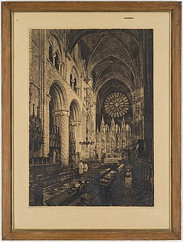 AXEL HERMAN HÄGG, Etching, 1893, signed.