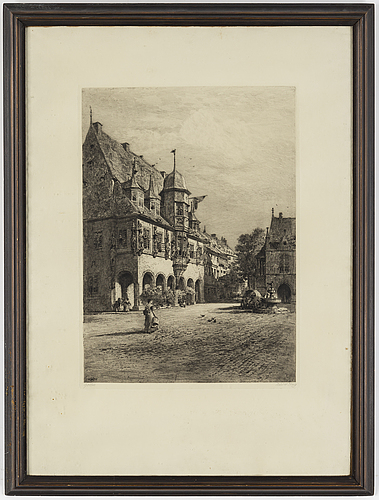Axel herman hÄgg, etching, 1893, signed