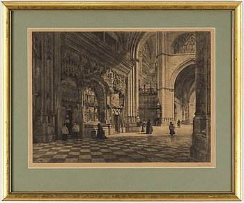 AXEL HERMAN HÄGG, Etching, 1895, signed.