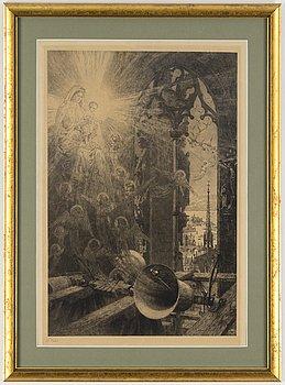 AXEL HERMAN HÄGG, Etsning, 1895, signerad i plåten.