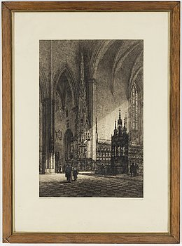 AXEL HERMAN HÄGG, Etching, 1902, signed.