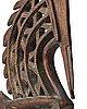 A sculpture, a headdress, tshiwara/ciwara (stylized male antelope), wood, the bambara tribe, mali, h. 94 cm. on a base.
