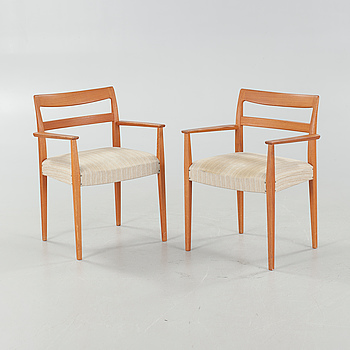 A pair of armchairs by Troeds, Bjärnum, Sweden, third quarter of the 20th century.