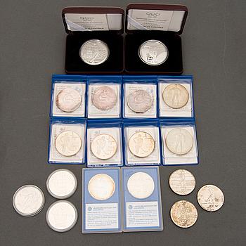 JUBILEUMSMYNT, 18 st, silver, 1970-90-tal.
