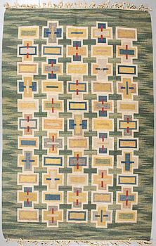 JUDITH JOHANSSON, a flatweave rug, signed J, around the mid 20th century, 299 x 195 cm.