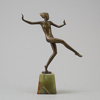 JOSEF LORENZL, skulptur, brons, Art Deco.